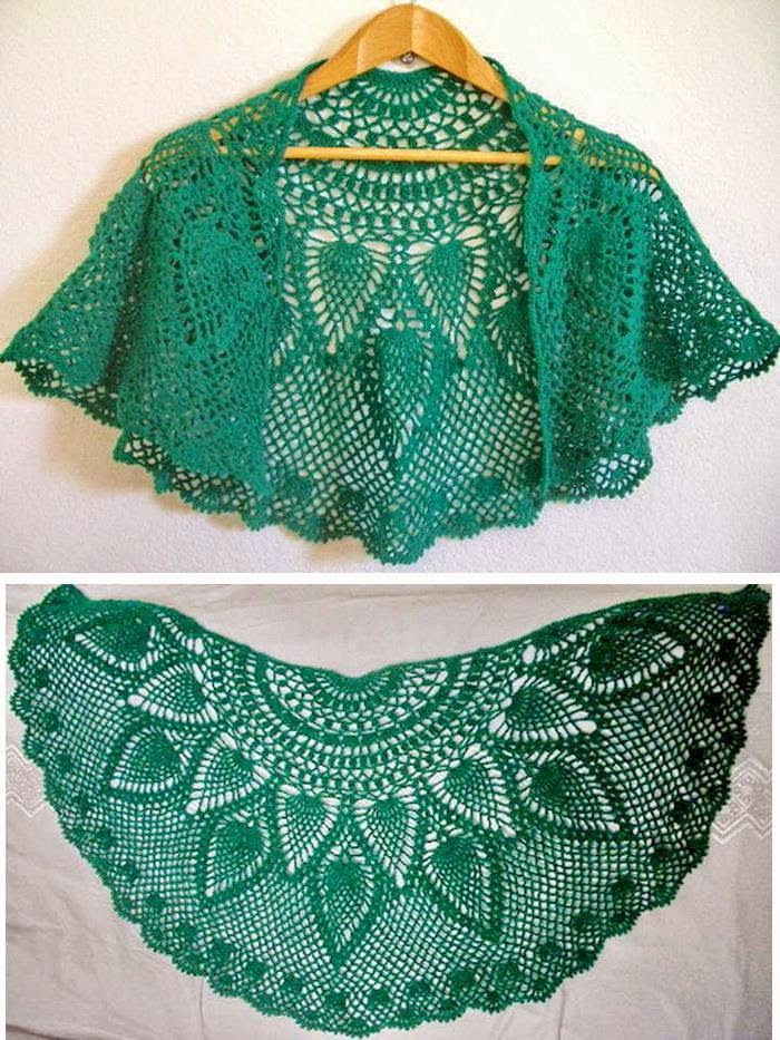 Crochet Shawls Crochet Lace Capelet Pattern Beautiful