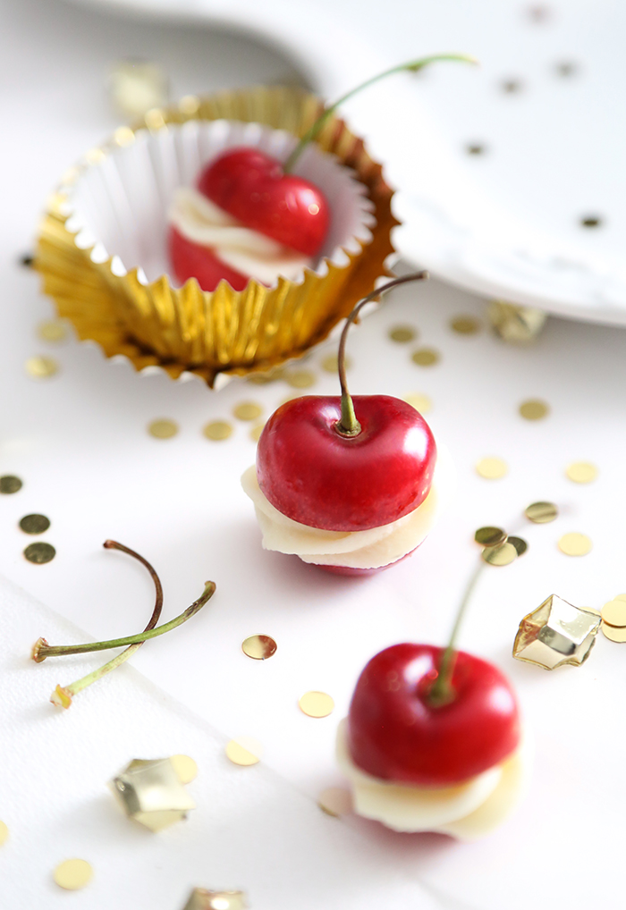 Champagne Ganache Stuffed Cherries