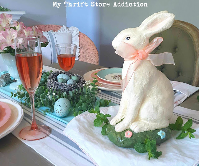 Vintage Easter tablescape