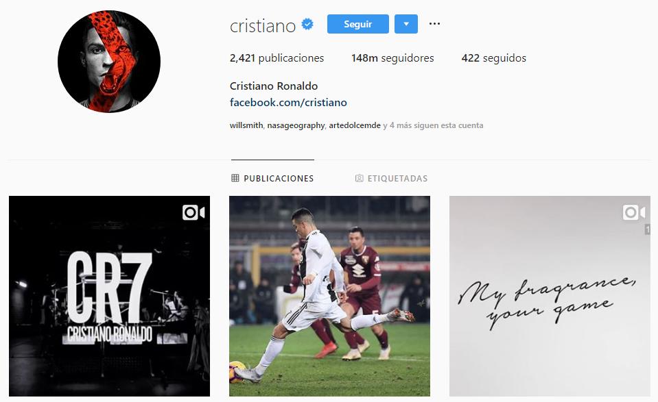 Boom Juventus su Instagram assieme a CR7.