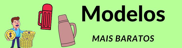 Modelos de garrafas de café mais baratos