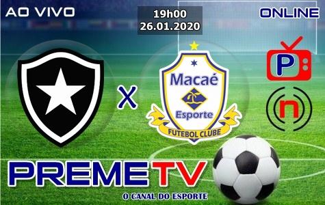 Botafogo-RJ x Macaé Hoje Ao Vivo