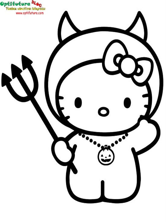 Hello Kitty [Dibujos para colorear] ~ Optifutura
