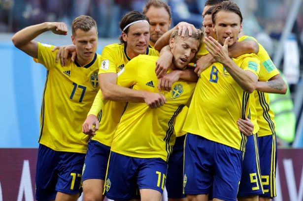 Sweden victory over Switzerland