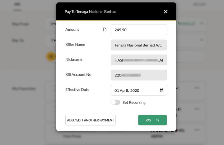 Cara Nak Semak Bil TNB Secara Online Menerusi Maybank2u