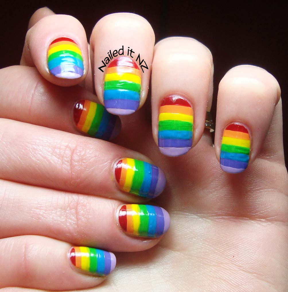 Rainbow Nails And A Hot Pink Cat