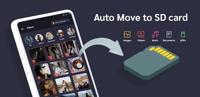 تنزيل Auto Move To SD Card Premium 2.0.2 - برنامج نقل الملفات التلقائي إلى بطاقة  SD