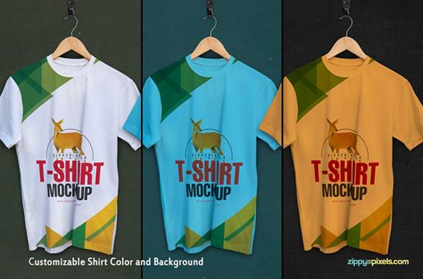 Download T-shirt Mockup PSD Terbaru Gratis - Fabulous and Free T Shirt Mockups – Round Neck