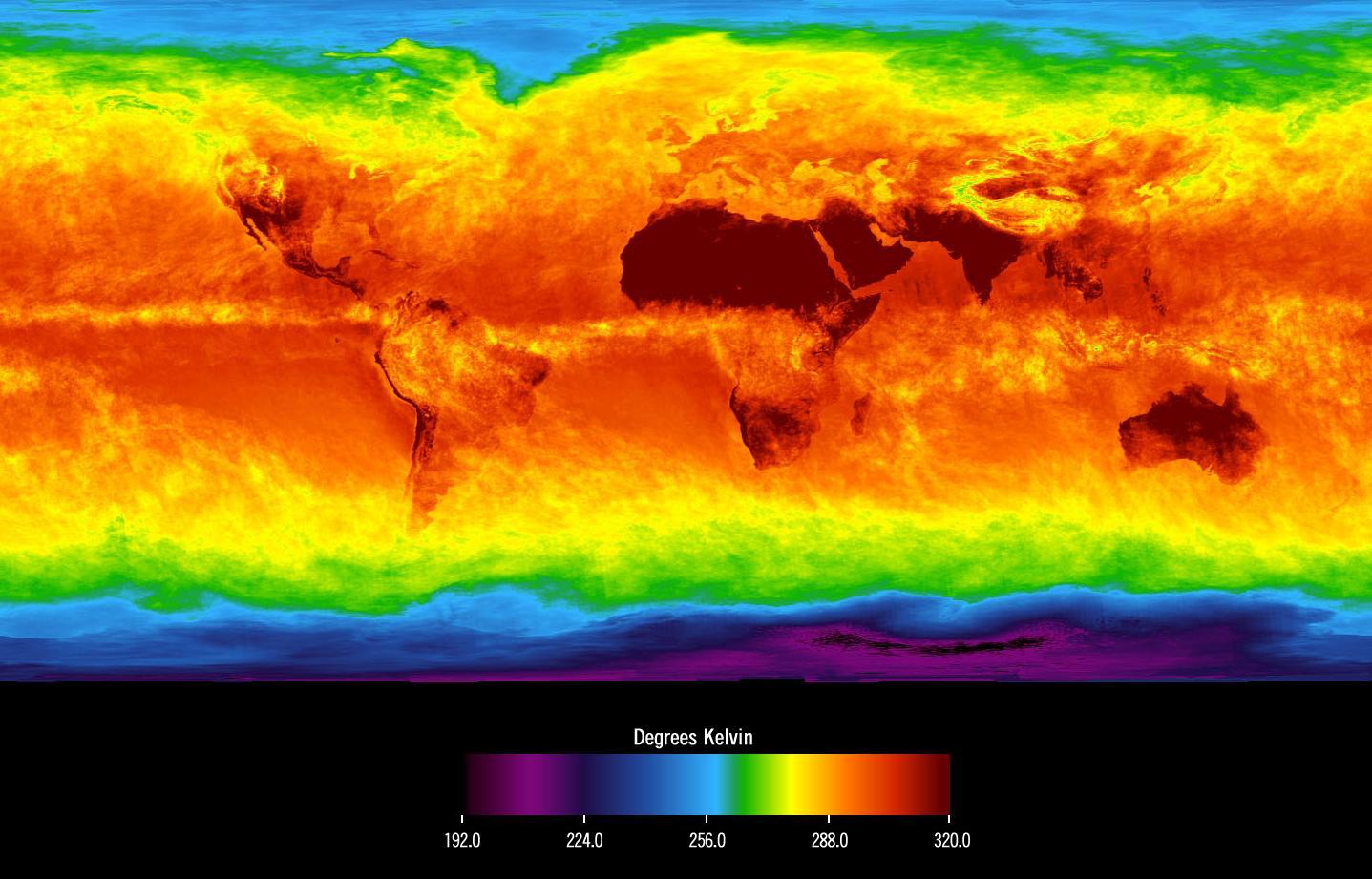 Global Average Brightness Temperature for April 2003