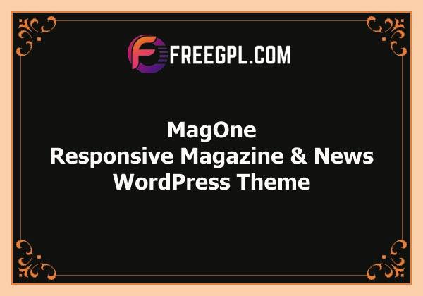 MagOne – Responsive Magazine & News WordPress Theme Free Download