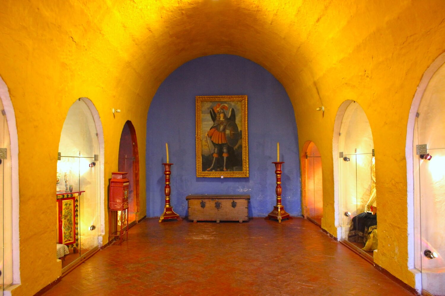 monastery of santa catalina yellow blue room