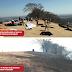 Rampa da Espanhola que recebeu vários turistas no final de semana também foi atingida pelo fogo