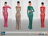Sims2fanbg Sequin Dress