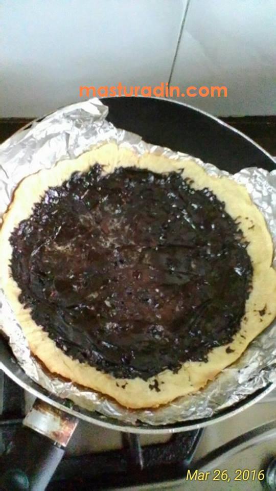 resepi tart kuali, cara membuat crust tart, bahan-bahan, viral, dough, gardenia delicia milky chocolate spread