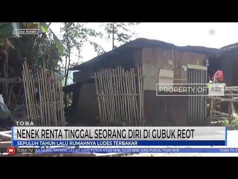 seorang nenek berusia 83 tahun harus tinggal seorang diri Di Dalam Gubuk reot di desa sitoluama,Kecamatan Laguboti Kabupaten Toba