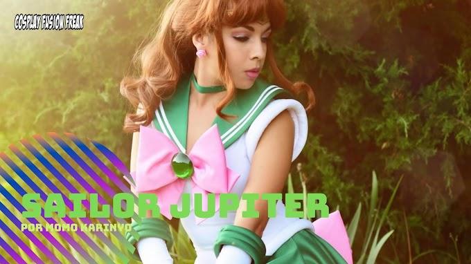 Momo Karinyo con su cosplay de Sailor Jupiter