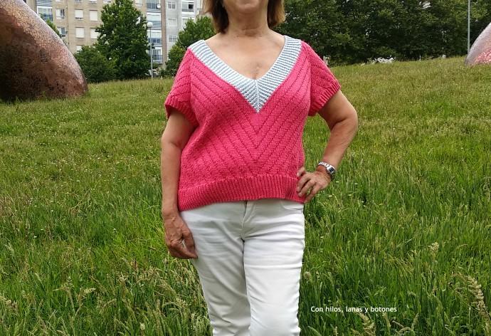 Con hilos, lanas y botones: Dahlia Tee (diseño de Carmen García de Mora para Knilight II)