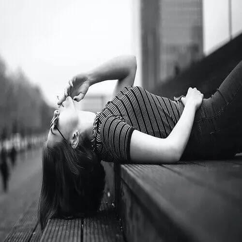 alone girl smoking