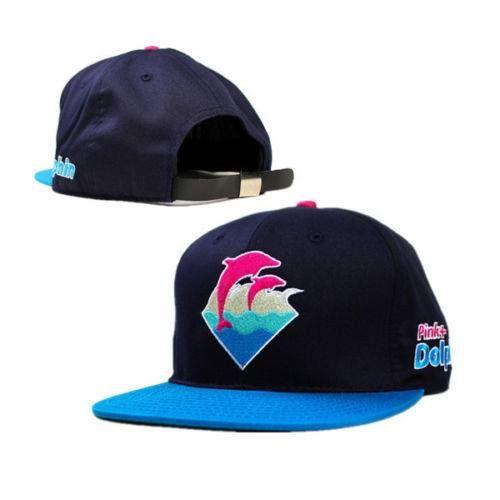 boné strapback pink doplhin azul