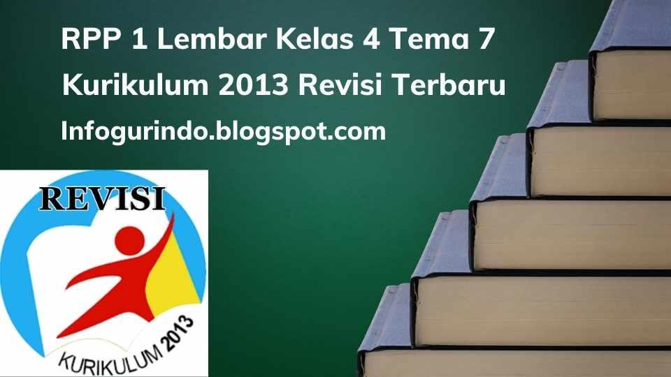 RPP 1 Lembar K13 Kelas 4 Tema 7 Semester 2 Revisi 2020
