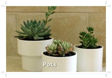 Pot tanaman PVC