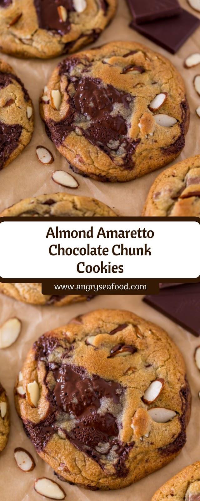 Almond Amaretto Chocolate Chunk Cookies