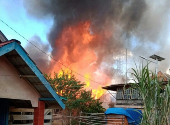 Si Jago Merah Hanguskan Satu Rumah Warga Desa Tanjung Raja, Gumai Ulu