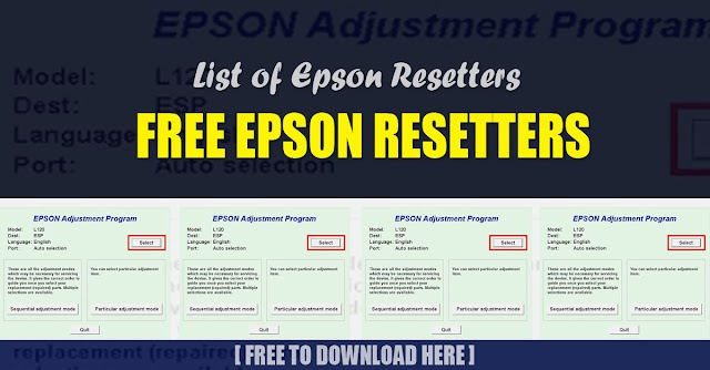 Free Epson Resetters