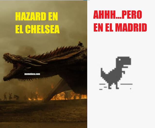 hazard chelsea madrid meme dragon