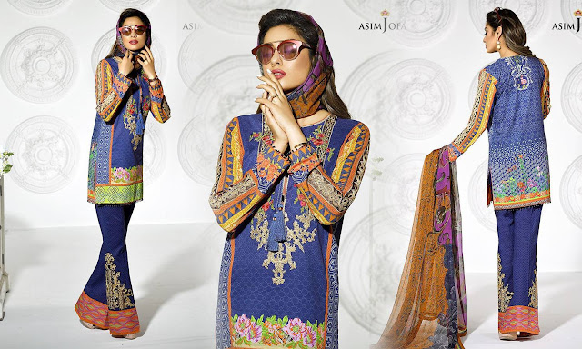 New Latest Luxuries with FULL Embroidery By Asim Jofa www.bestfashionpk.blogspot.com