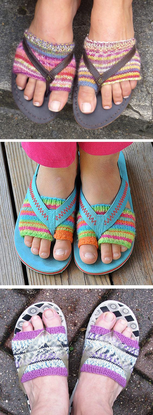 Flip Flop Socks - Free Knitting Pattern