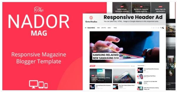 NadorMag Template Blogger Responsive