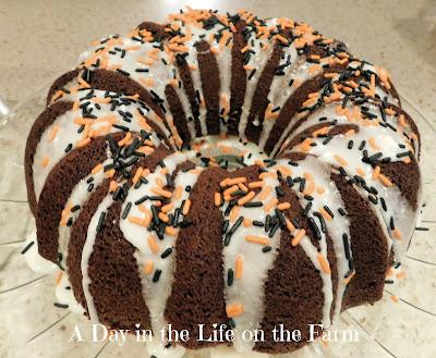 Chocolate Pumpkin Bundt