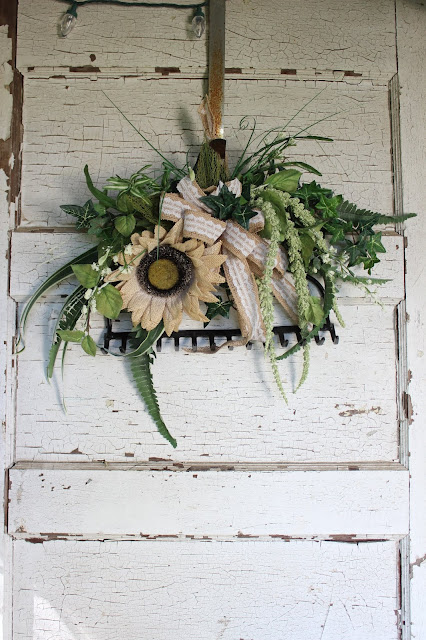 garden style wreath ideas
