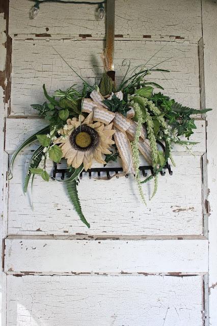 garden style wreath ideas