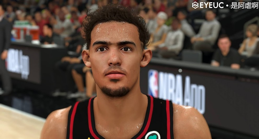 Trae Young Cyberface and Body Model by SteveDai [FOR 2K21]