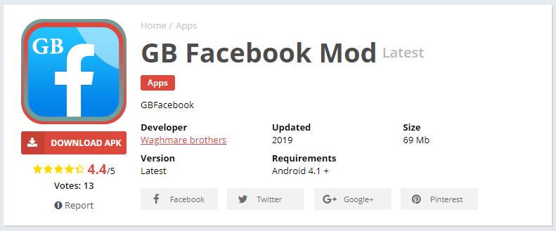 Aplikasi Facebook Transparan