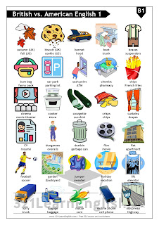 Learn ESL Vocabulary: British vs. American English. . Download ready-to-print worksheets in PDF with pictures and vocabulary.