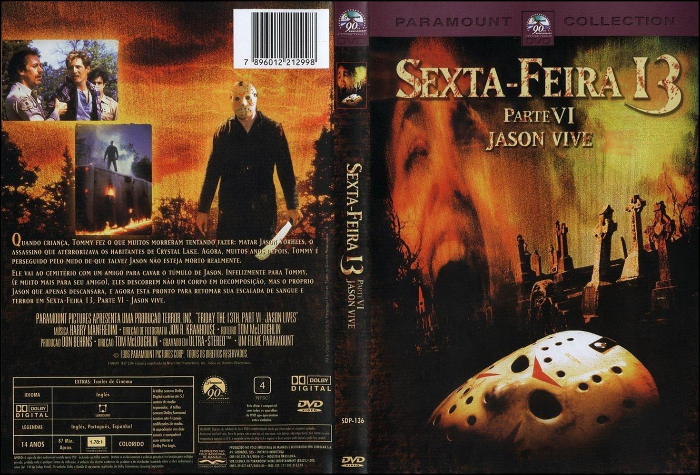 Sexta-Feira 13 Parte 6 - Jason Vive DVD Capa