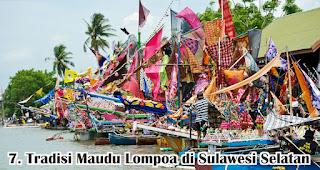 Tradisi Maudu Lompoa di Sulawesi Selatan merupakan salah satu tradisi unik di Indonesia yang dilakukan untuk menyambut maulid nabi