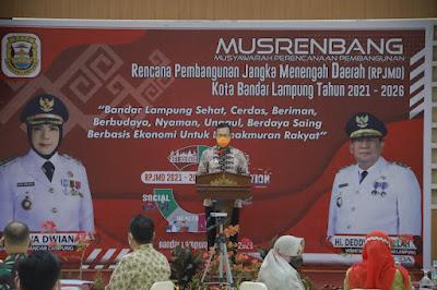 Gubernur Lampung Buka Musrenbang RPJMD Kota Bandar Lampung Tahun 2021-2026