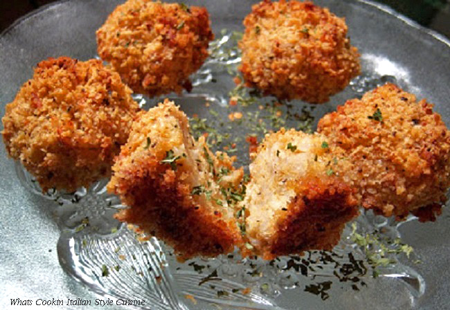 this is baked arancini balls which are rice balls