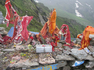 Temple of Goddess Kali at Kali Top en Route Srikhand Mahadev Yatra