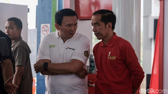 Resmikan Penggunaan B30, Jokowi dan Ahok Sempat Ngobrol Berdua