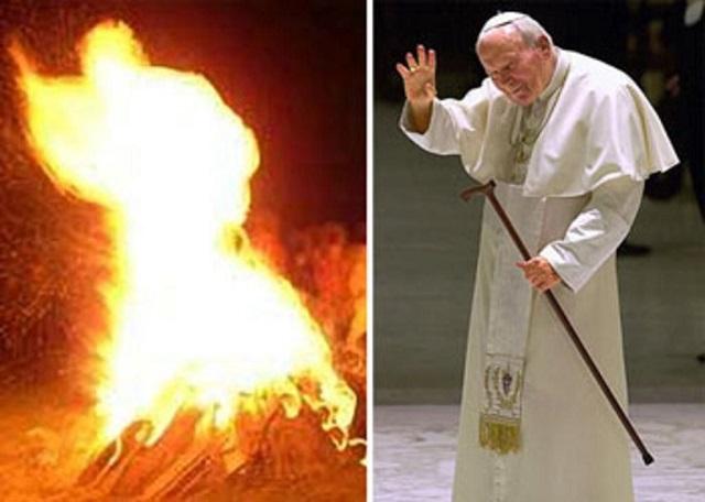 Papa João Paulo II está no Inferno