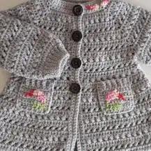 Abrigo de Bebé a Crochet