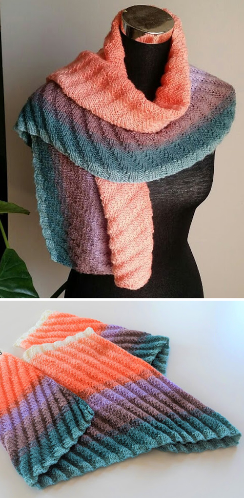 Ribbed Shawlette - Free Pattern