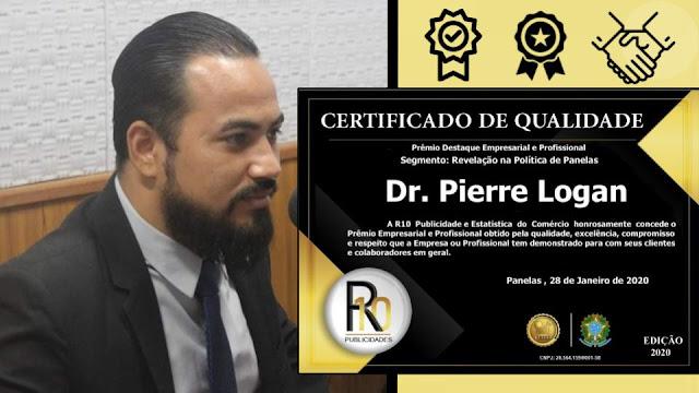 Pierre Logan, Prêmio Destaque Empresarial e Profissional - Revelação na Política em Panelas-PE