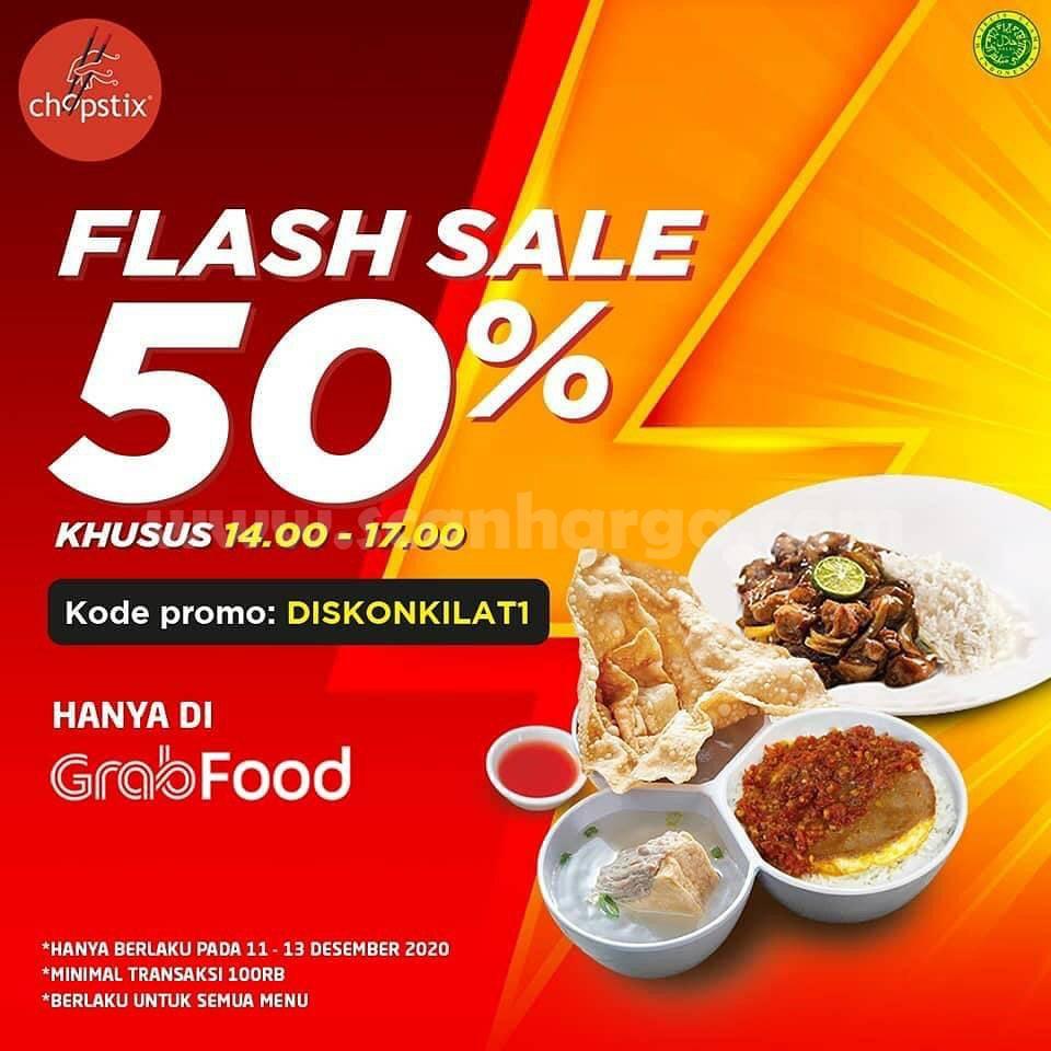 Promo Chopstix Flash Sale Diskon 50% Via Grabfood