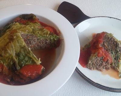 Almost Whole Stuffed Cabbage